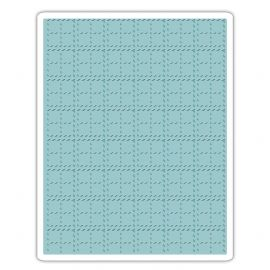 Sizzix Texture Fades A2 Embossing Folder - Stitched Plaid - 661610